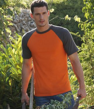 SS31 Friut Of The Loom Contrast Baseball Shirt FOTL
